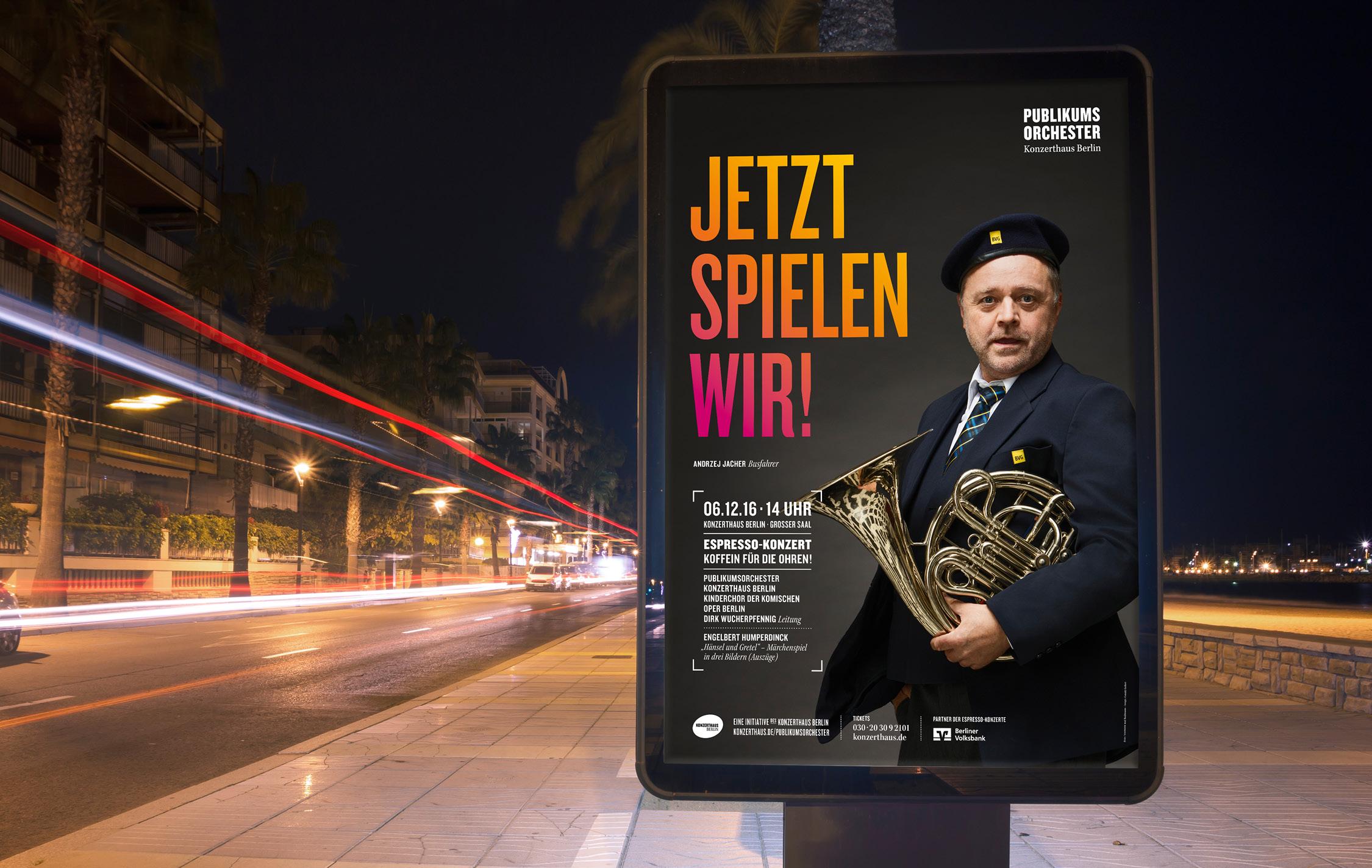 Konzerthaus Berlin Publikumsorchester Displaywerbung
