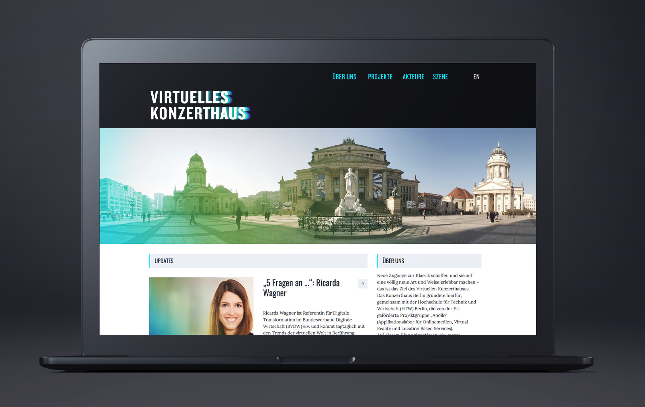 Virtuelles Konzerthaus Auf Desktop